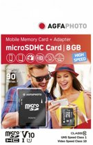 AgfaPhoto Mobile High Speed 8GB Micro SDHC Class 10 (+ Adapter)