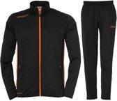 Uhlsport Essential Classic  Trainingspak - Maat L  - Mannen - zwart/oranje