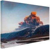 Vulkaan schoonheid van de natuur Canvas 180x120 cm - Foto print op Canvas schilderij (Wanddecoratie woonkamer / slaapkamer) XXL / Groot formaat!
