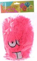 Johntoy Fuzzybal Met Gezichtje Pluche Roze 25 Cm