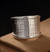 Brede Zilveren Ring - Zilverring - Verstelbaar