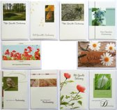 Rouwkaarten  Condoleance kaarten  Set van 10   L-062