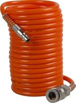 FERM Luchtspiraalslang - ATA1026 - Incl. Koppeling - Accessoire Voor Compressor
