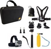 11 in 1 Accessoire Set Voor GoPro Hero en SJCAM Actioncam met Luxe Opbergkoffer