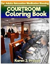 COURT Room book for Adults Relaxation Meditation Blessing: Sketches Coloring Book Grayscale Images