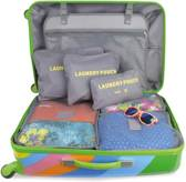 O'DADDY koffer organiser, packing cubes, travel bag, set 6 delig grijs