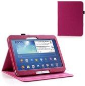 Litchi Bookcase Samsung Galaxy Tab 3 10.1 P5200   P5210 Rose