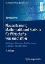 Klausurtraining Mathematik Und Statistik F r Wirtschaftswissenschaftler
