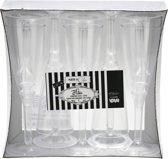 Plastic wijnglazen met transparante voet 10 stuks