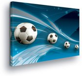 Footballs Canvas Print 100cm x 75cm