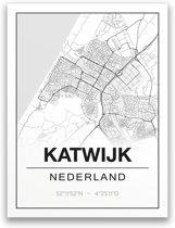 Poster/plattegrond KATWIJK - A4