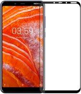 Nokia 3.1 Plus - Full-Cover Tempered Glass - Zwart