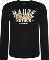 Retour Jeans Meisjes T-shirt - Zwart - Maat 116