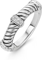TI SENTO Milano Ring 12048ZI - Maat 54 (17,25 mm) - Gerhodineerd Sterling Zilver