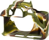 Silicone cover voor Canon EOS 200D - camouflage