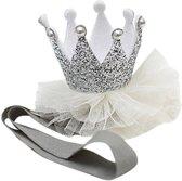 Haarband Baby - Kroontje - Zilver