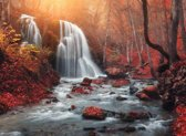 Papermoon Mountain Sunset Waterfall Vlies Fotobehang 350x260cm 7-Banen