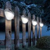 Globo Lighting Wandlamp op zonne-energie - Grijs plastic - Doorzichtig plastic - IP44