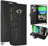 KDS Smooth Wallet case hoesje HTC One mini 2 zwart