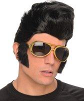 Rock 'n Roll pruik met bril voor mannen - Verkleedpruik - One size