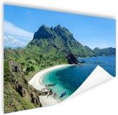 Uitzicht over Padar eiland Indonesie Poster 180x120 - XXL cm - Foto print op Poster (wanddecoratie)