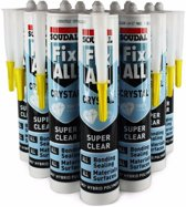 Fix-all lijm universeel - Transparant - Krat - 12 Stuks