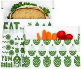 Lunchskins 2-Pack Bag Set Green Farm