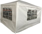 Party tent 3x4m - 4 zijwanden - Wit