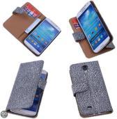 BestCases Glamour Zwart Samsung Galaxy S4 Echt Leer Wallet Case
