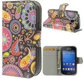 Meteor print wallet case hoesje Samsung Galaxy Ace Style G310