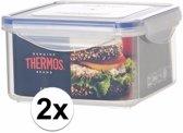 2x stuks Thermos airtight vershoud doosjes/bakjes van 1.2 liter