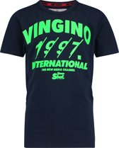 Vingino Jongens T-shirt - Dark Blue - Maat 116