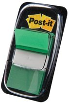 Post-it® Index Standaard, Groen, 25.4 x 43.2 mm, 50 Tabs/Dispenser