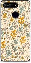 Honor View 20 Hardcase hoesje Doodle Flower Pattern