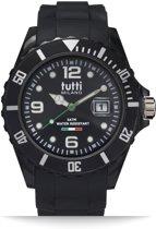 Tutti Milano TM002NO- Horloge - 42.5 mm - Zwart - Collectie Pigmento