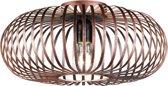 Trio Leuchten - Plafondlamp - 1 lichts - Ø 395 mm - Roestbruin