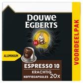 Douwe Egberts Espresso Krachtig koffiecups - 10 x 20 cups - voordeelpak