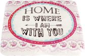 Onderzetter Home is where i am with you   6PR1076   Clayre & Eef