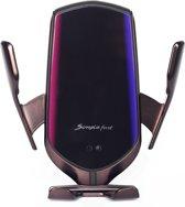 BLACK EDITION - Wireless Car Charger - Geschikt voor alle auto's - Sterke 10W - Draadloze oplader auto - autohouder