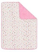 Lief Lifestyle! plaid 100x150 cm roze/wit
