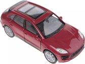 Welly Schaalmodel Porsche Macan Turbo Rood