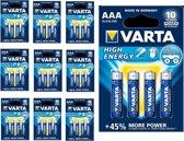 40 Stuks (10 Blisters a 4st) - VARTA High Energy LR03 / AAA / R03 / MN 2400 1.5V alkaline batterij