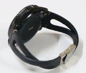 Twist bandje Leer Zwart geschikt voor Samsung Galaxy Watch 42mm en Galaxy Watch Active