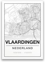Poster/plattegrond VLAARDINGEN - 30x40cm