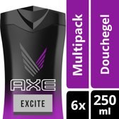 Axe Excite For Men Douchegel - 6 x 250 ml - Voordeelverpakking