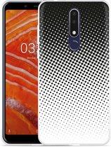 Nokia 3.1 Plus Hoesje zwart witte cirkels