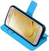 Blauw Samsung Galaxy J2 2016 TPU wallet case booktype hoesje HM Book
