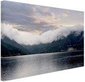 Baai in Montenegro Canvas 60x40 cm - Foto print op Canvas schilderij (Wanddecoratie woonkamer / slaapkamer)