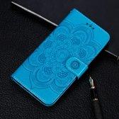 Let op type!! Mandala reliëf patroon horizontale Flip lederen case voor Samsung Galaxy A8S  met houder & card slots & portemonnee & Photo Frame & Lanyard (blauw)
