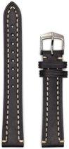 Hirsch horlogeband - Liberty Artisan Zwart 22mm